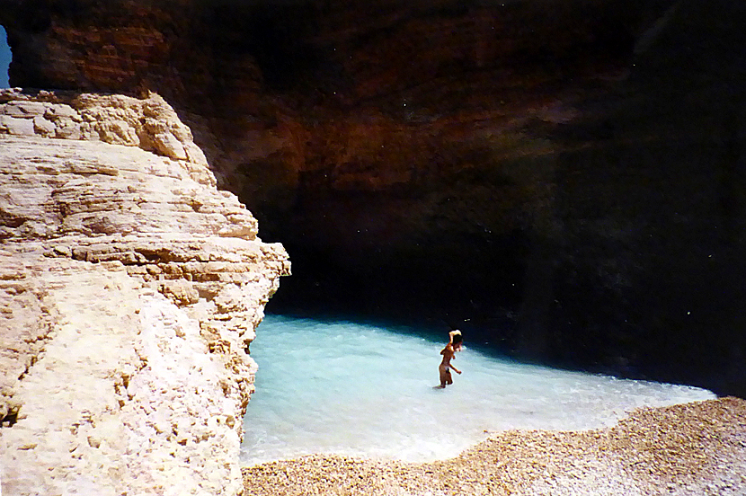 Gala beach and cave in Pori. Koufonissi.
