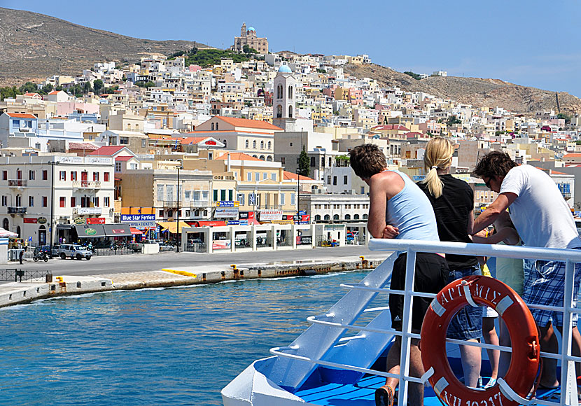 Ermoupolis and Ano Syros.